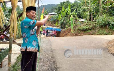 Camat Pandanarum Resmikan Jalan Desa di Dusun Lengsar, Desa Lawen