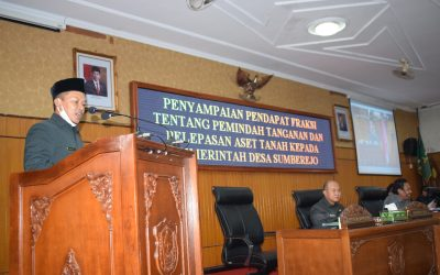 DPRD setujui pelepasan aset tanah kepada Pemdes Sumberejo dengan syarat