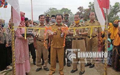 Bupati Resmikan Pembangunan Jalan Usaha Tani Desa Jalatunda