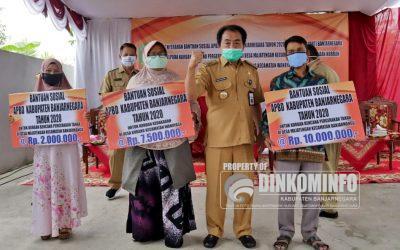 Pemkab Banjarnegara Salurkan Bansos untuk Warga terdampak Bencana Alam