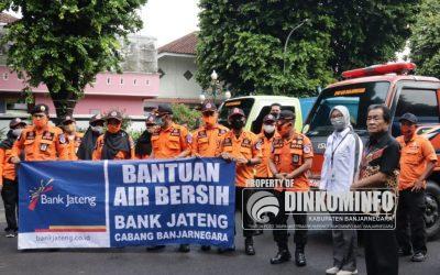 BPBD Bersama Bank Jateng Salurkan Air Bersih