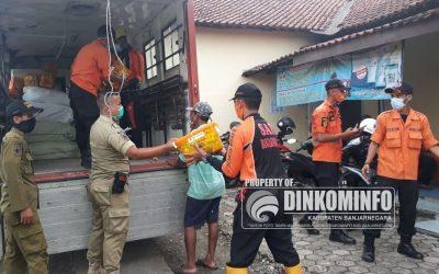 Banjarnegara Kirim Bantuan untuk Pengungsi Banjir di Banyumas