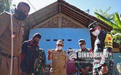 Tim Wasev Tinjau Pelaksanaan TMMD Reguler 111 Desa Kebutuh Jurang