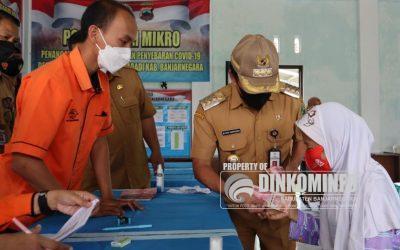 BLT JPS PPKM Level III Lanjutan dibagi pada hari pertama di Banjarnegara